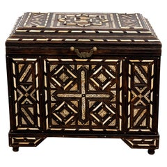 Bone Inlaid Anglo Indian Style Trunk