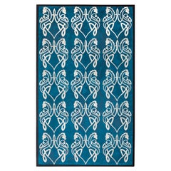 Bone Inlaid Wall Art in Blue Resin with Celtic Dragon Pattern