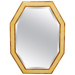 Bone Inlay Octagonal Mirror