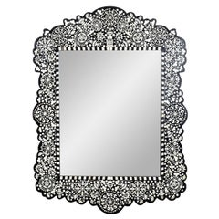 Bone Inlay Shaped Mirror