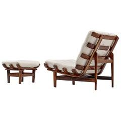 Bone Lounge Chair with Ottoman