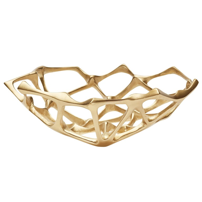 Bone Small Bowl in Brass by Tom Dixon For Sale