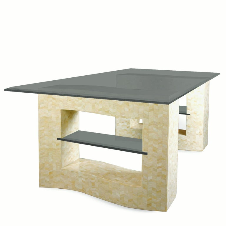 Unknown Bone Tessellated Dining Table Base For Sale