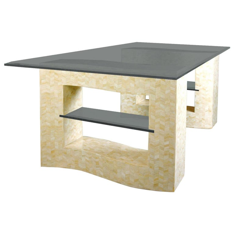 Bone Tessellated Dining Table Base For Sale