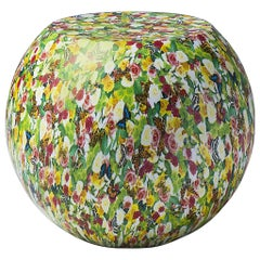 Bong Coffee/Side Table by Giulio Cappellini in Floral Decorated Lacquer Finish