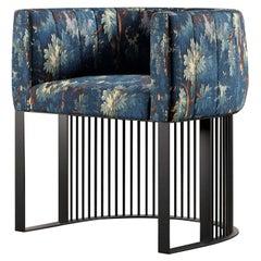 Bonheur Chair Seventeenth-Century Tapestry Design Fabric Upholstery