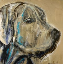 'It's Peanut Baby' by Bonnie B. Cooke Contemporary Oil on Canvas Dog Painting