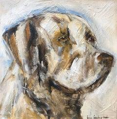 """""""Labradude"""" Large Square Labrador Painting"""