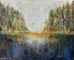 Lush Landscape by Bonnie Beauchamp-Cooke, Mixed Media Landscape Painting