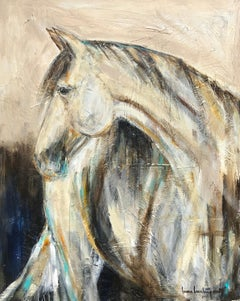 Spike by Bonnie Beauchamp-Cooke, Large Contemporary Mixed Media Horse Painting