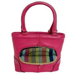 Bonnie Cashin Coach Bag Pink Leather Kiss Lock Tote Rare Vintage 1960s