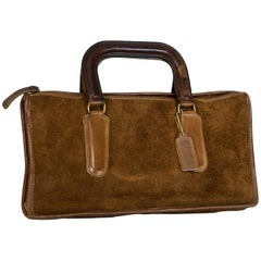 Bonnie Cashin/Coach Brown Suede Soft Top-Handle Mini Briefcase Attaché, 1970s