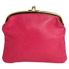 Bonnie Cashin Coach Pouch Clutch Wallet Cashin Carry Pink Leather Vintage 60s