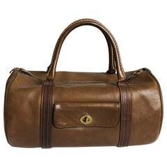 Bonnie Cashin Coach Safari Bag Duffel Tote Tabac Leather Vintage 1960s