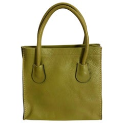 Bonnie Cashin for Coach Dinky Tote Bag Cashin Carry Lime Green Leather 60s NYC
