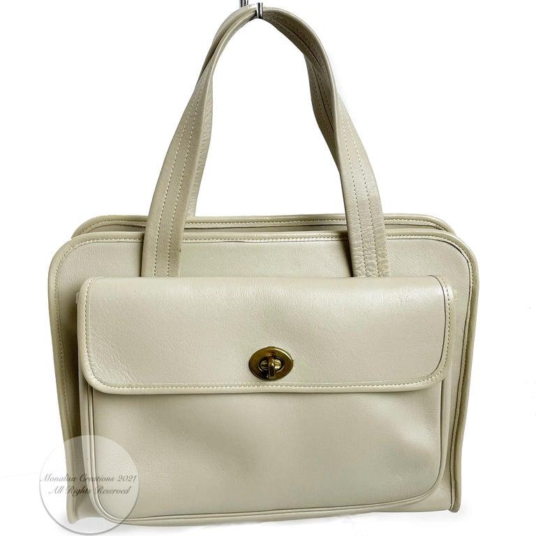 Bonnie Cashin for Coach Double Pocket Safari Bag Tote Vintage 60s Rare For Sale 1