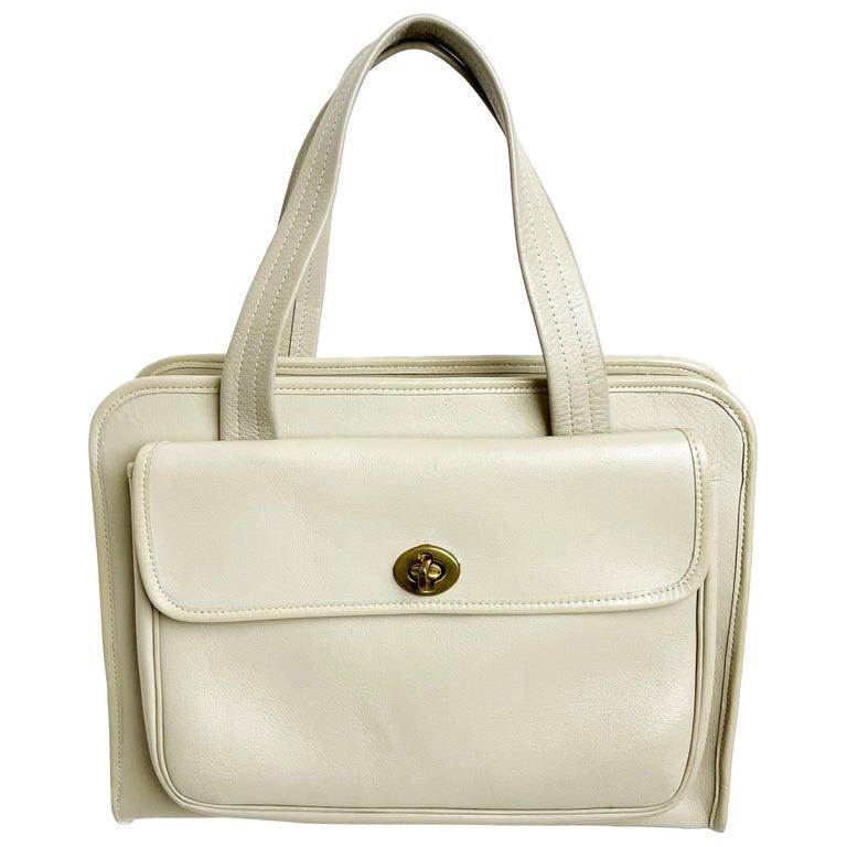 Bonnie Cashin for Coach Double Pocket Safari Bag Tote Vintage 60s Rare For Sale