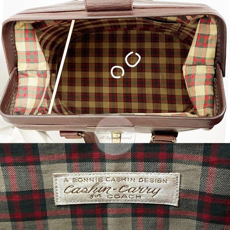 Bonnie Cashin for Coach Rare 'Super Hero Lunch Box' Doctors Bag Satchel Rare  For Sale 6