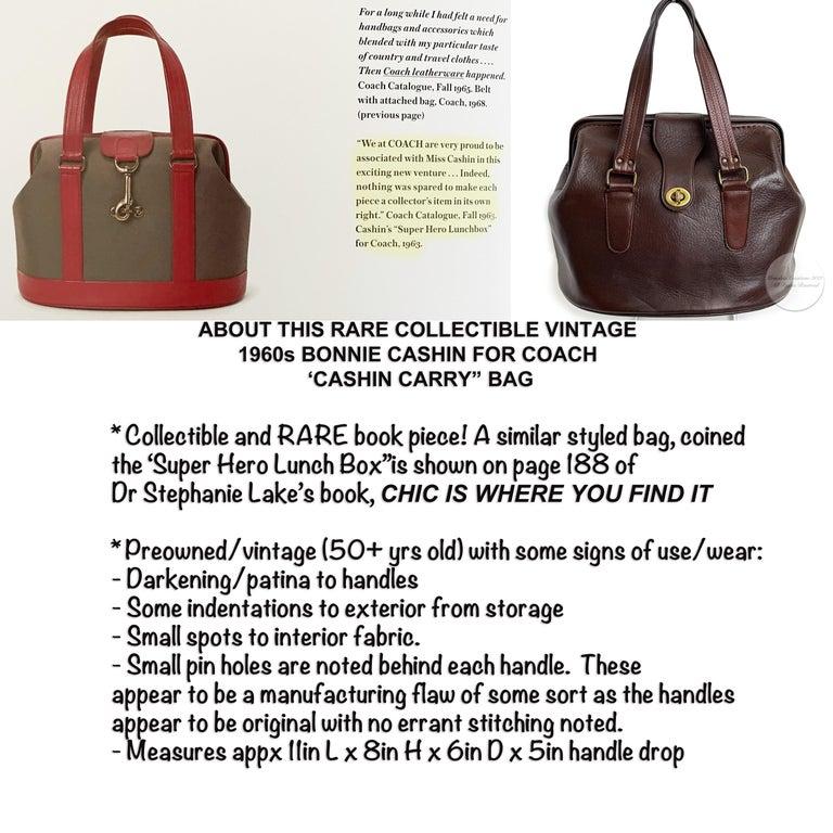 Black Bonnie Cashin for Coach Rare 'Super Hero Lunch Box' Doctors Bag Satchel Rare  For Sale