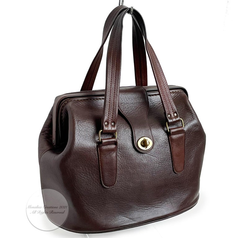 Women's or Men's Bonnie Cashin for Coach Rare 'Super Hero Lunch Box' Doctors Bag Satchel Rare  For Sale
