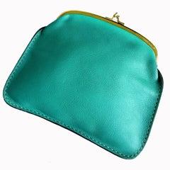 Bonnie Cashin for Coach Wallet Kiss Lock Leather Pouch Cashin Carry Vintage 60s