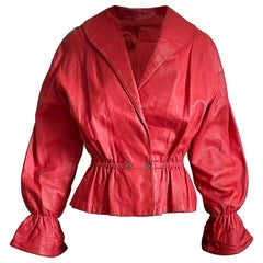 Bonnie Cashin for Sills Red Leather Jacket Rare Vintage 1960s S/M