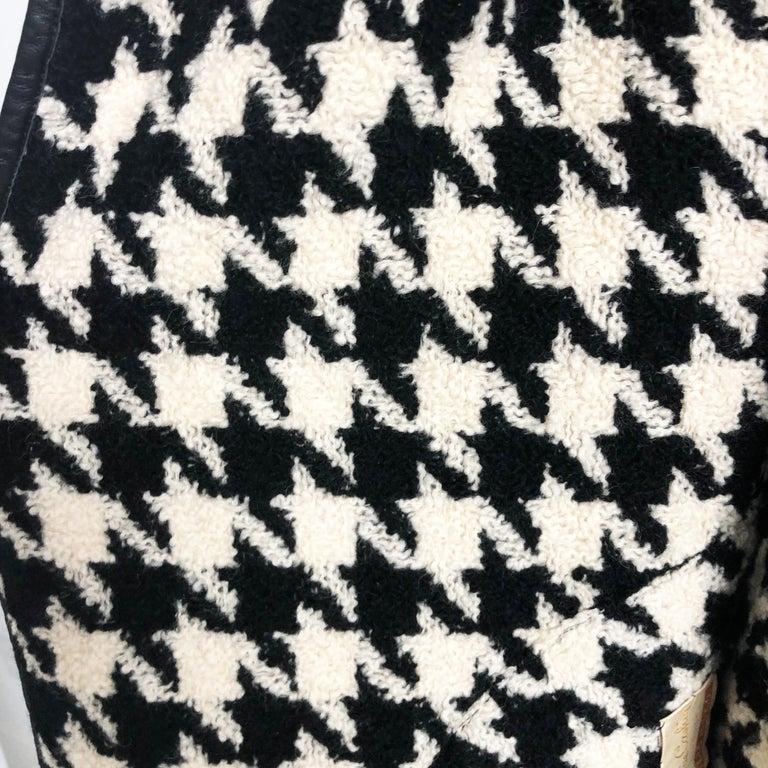 Bonnie Cashin Houndstooth Fringe Coat + Skirt 2pc Ensemble 1960s M For Sale 2