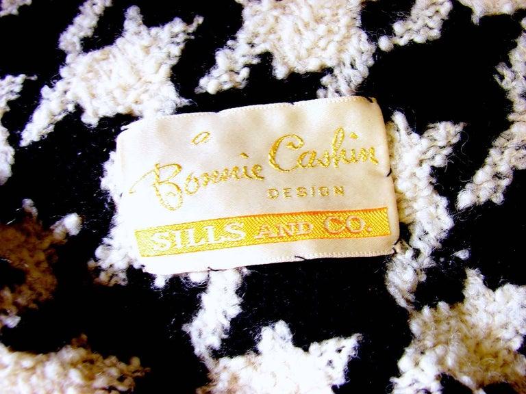 Bonnie Cashin Houndstooth Fringe Coat + Skirt 2pc Ensemble 1960s M For Sale 4