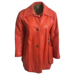 Bonnie Cashin Mod Leather Jacket with Attached Hobo Bag Size S Vintage 60s Rare