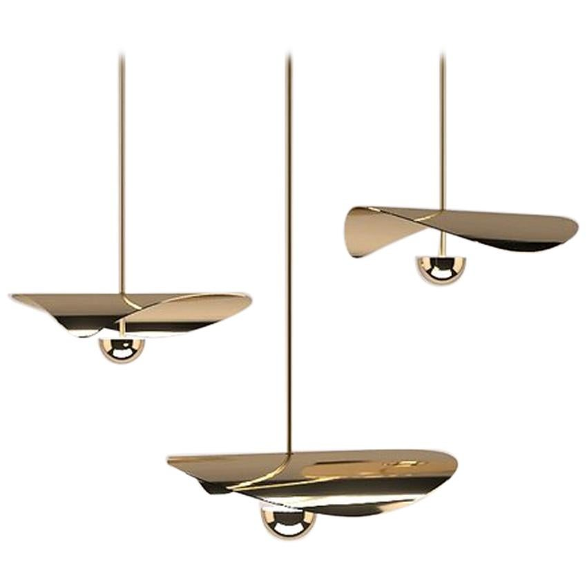 Bonnie 3 Contemporary LED Chandelier, Solid Brass or Chromed, Handmade/finished
