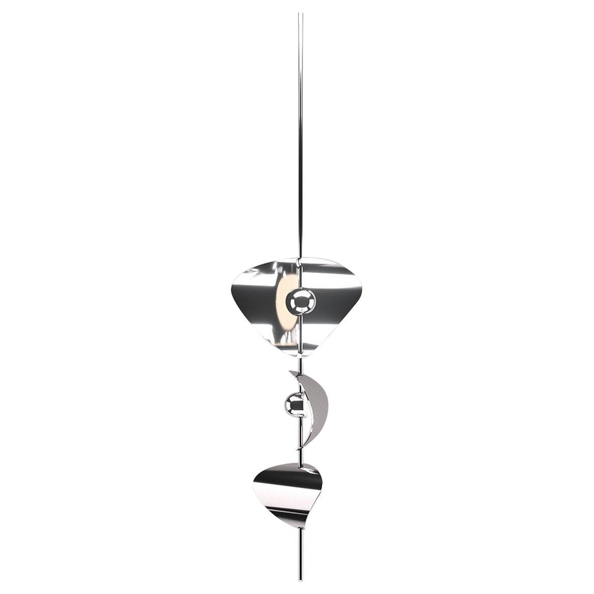 Bonnie Config 1 Contemporary LED Chandelier, Solid Brass or Chromed, Large, Art