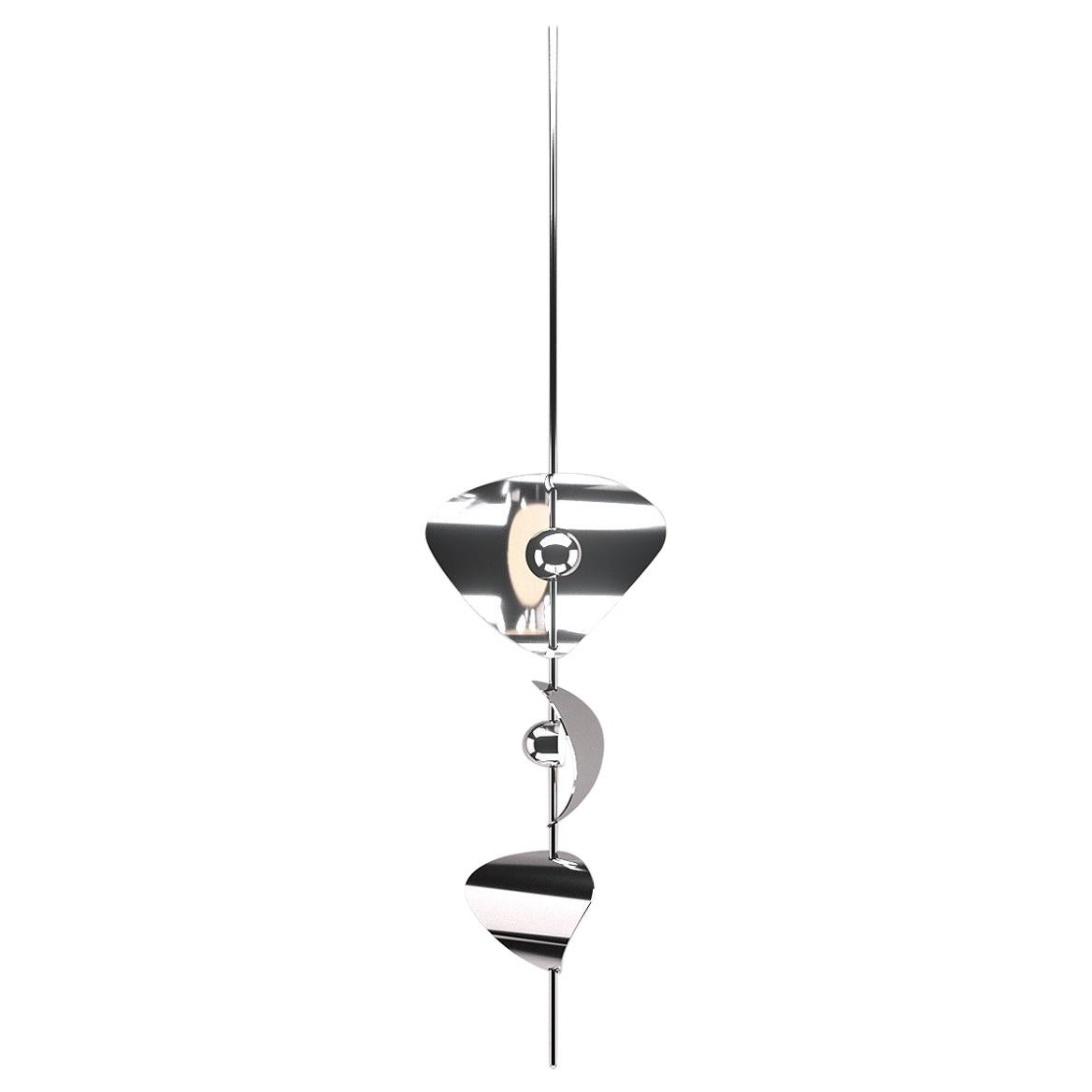 Bonnie Config 1 Contemporary LED Chandelier, Solid Brass or Chromed, Small, Art