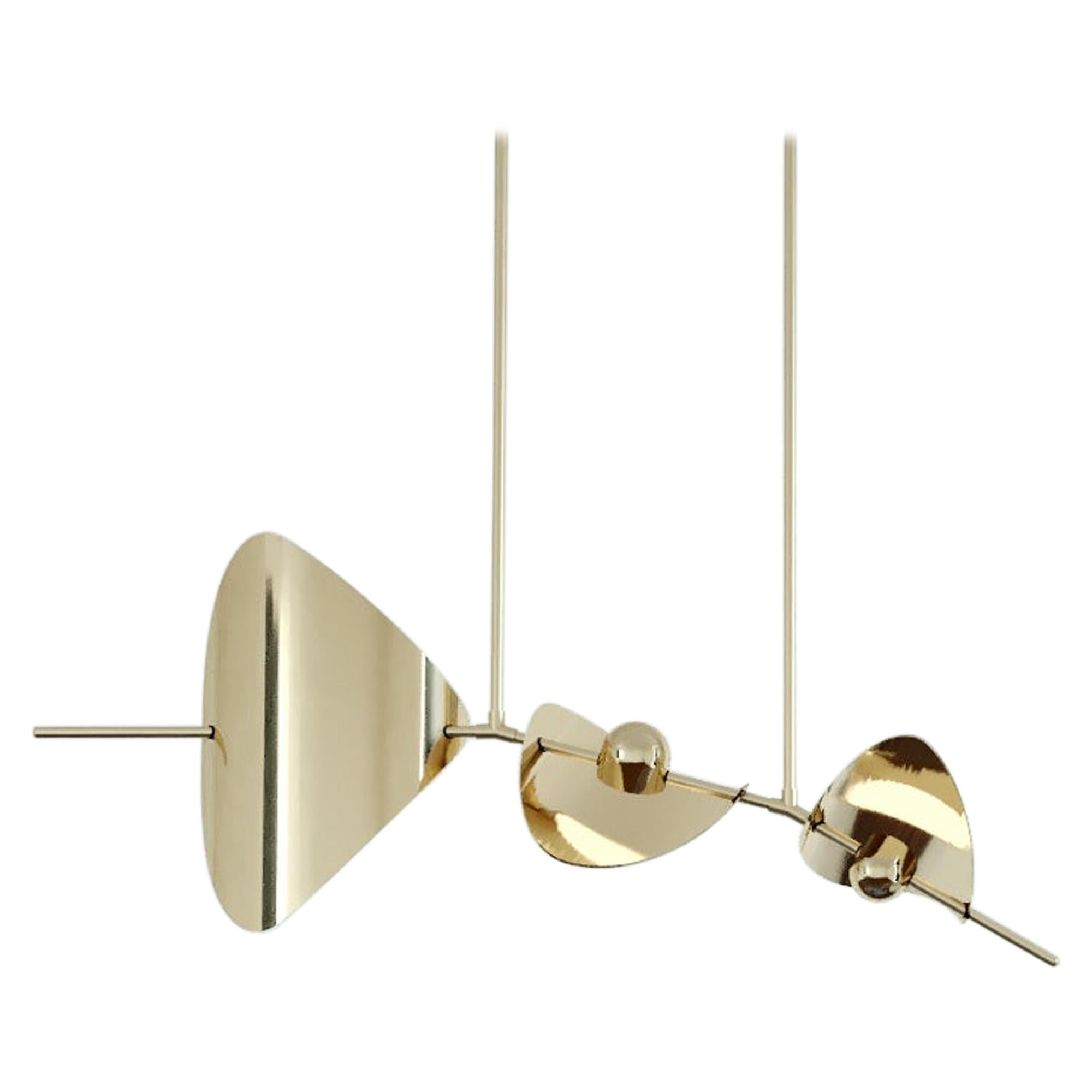 Bonnie Config 3 Contemporary LED Chandelier, Brass or Nickel, Large, Art
