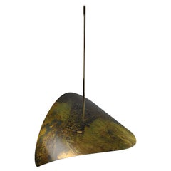 Bonnie Large LED Sculptural Pendant, Handmade 'Sweden' in Tarnished Bronze