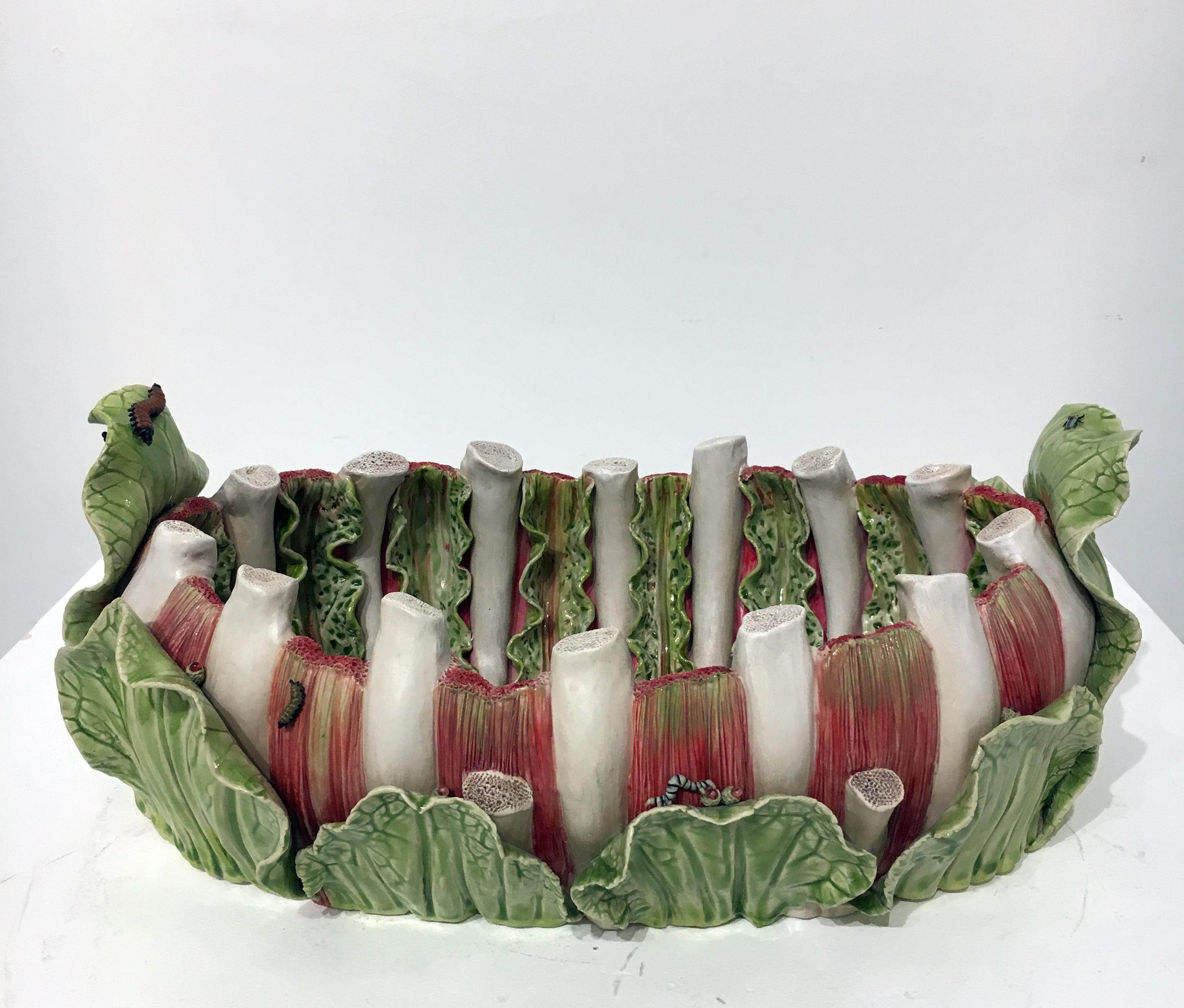 Contemporary Porcelain and Glass Sculpture, Ceramic Design, Surreal, Macabre