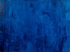 Meditation On Blue, abstract layered blue painting