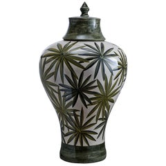 Bonnie Vase with Palm Tree Leaves by Ceccarelli