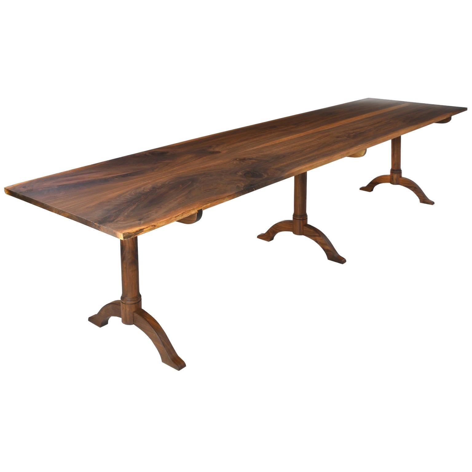 Bonnin Ashley Custom-Made Dining Table in Black Walnut w/ Hand Rubbed Oil Finish