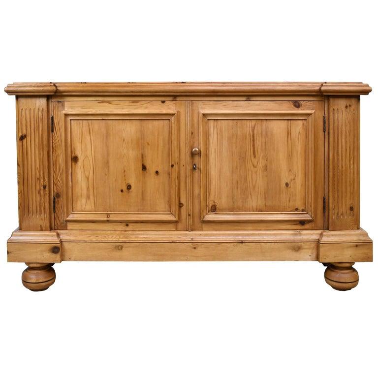 American Bonnin Ashley Custom-Made Neoclassical Cabinet in Reclaimed European Pine For Sale