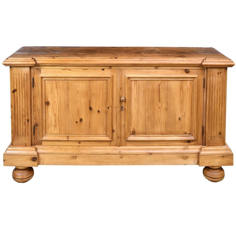Contemporary Bonnin Ashley Custom-Made Neoclassical Cabinet in Reclaimed European Pine For Sale