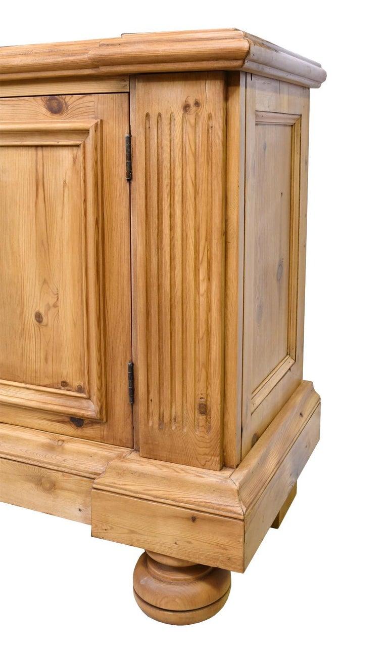 Bonnin Ashley Custom-Made Neoclassical Cabinet in Reclaimed European Pine For Sale 3