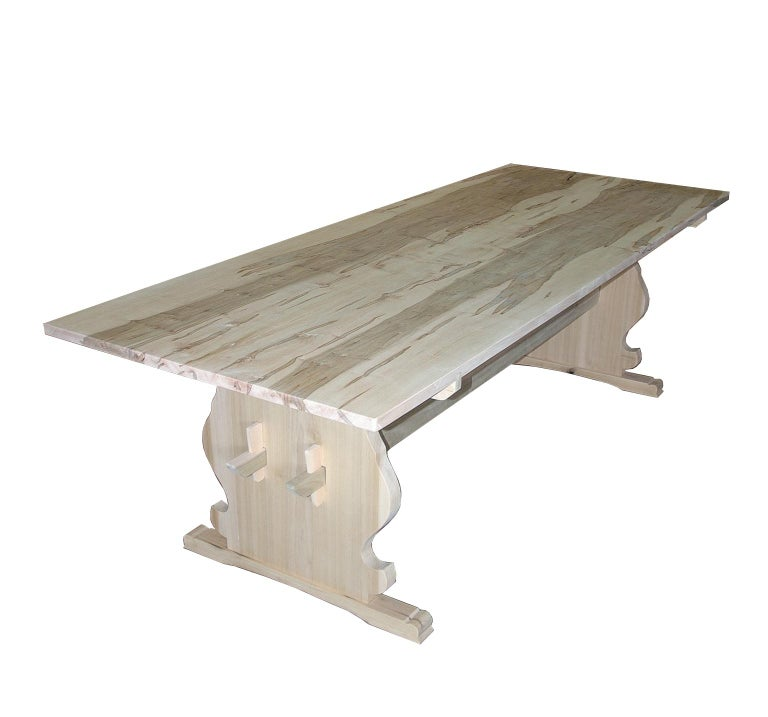 The natural look! We are now making this table in a natural wood finished with a clear acrylic satin sealer to make it user friendly without changing the color.