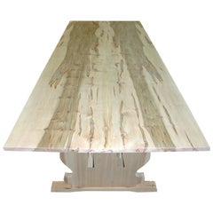 Bonnin Ashley Custom Made Wood Scandinavian Dining Table with Natural Finish