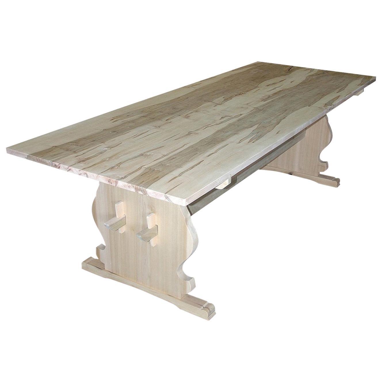 Bonnin Ashley Custom Made Wood Scandinavian Dining Table with Natural Finish