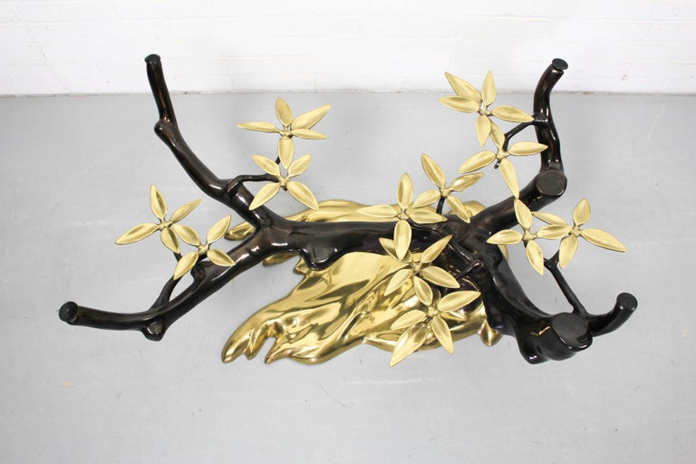 Bonsai Brass & Glass Coffee Table, Willy Daro, 1970s For Sale 1