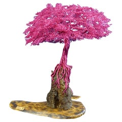 """Bonsai """"Purple Thoughts"""", Handmade in Italy, Sculpture, Contemporary Design"""