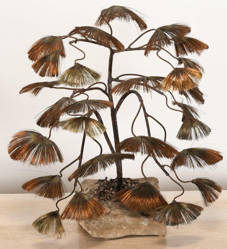Mid-Century Modern Bonsai Tree Sculpture by John Steck, 1960s For Sale