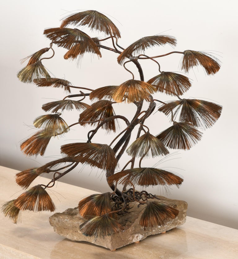 Bonsai Tree Sculpture by John Steck, 1960s In Good Condition For Sale In Hamburg, PA