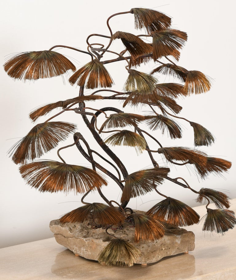 Mid-20th Century Bonsai Tree Sculpture by John Steck, 1960s For Sale