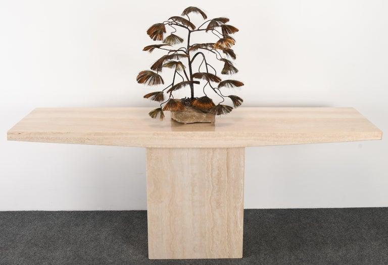 Brass Bonsai Tree Sculpture by John Steck, 1960s For Sale